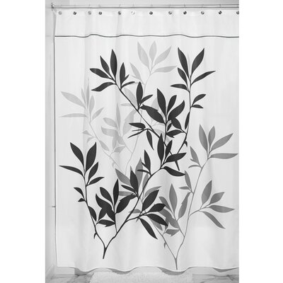 Leaves Shower Curtain Color: Black/Gray