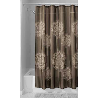 Dandelion Shower Curtain Color: Cocoa