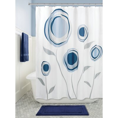 Marigold Shower Curtain Color: Navy