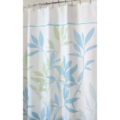 Leaves Shower Curtain Color: Soft Blue/Green