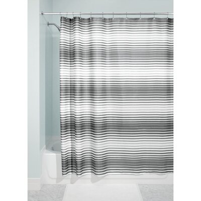 Londa Shower Curtain Color: Charcoal/White