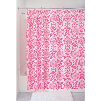 Damask Shower Curtain Color: Hot Pink