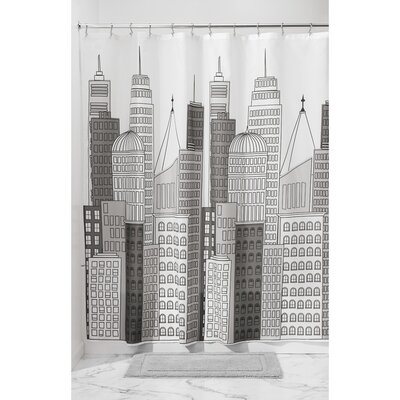 Skyline Shower Curtain Color: Gray