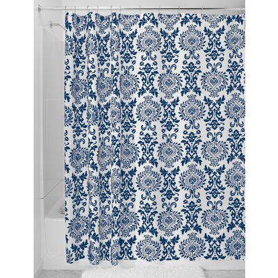 Damask Shower Curtain Color: Teal