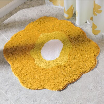 Poppy Bath Rug Color: Yellow