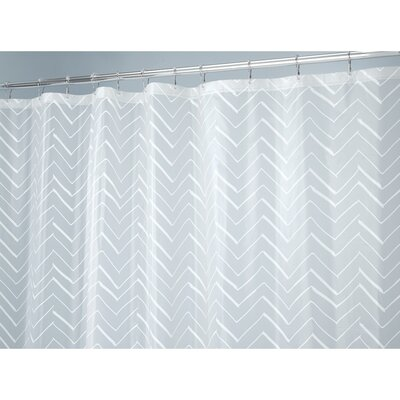 Chevron Sketched Shower Curtain Liner