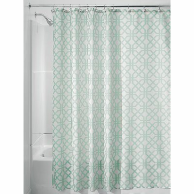 Trellis Shower Curtain Color: Mint