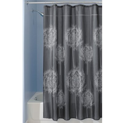 Dandelion Shower Curtain Color: Charcoal