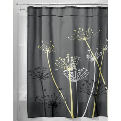 Thistle Shower Curtain Color: Gray/Yellow