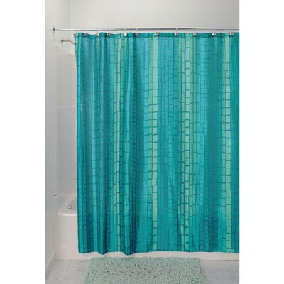 Moxi Shower Curtain Color: Aquamarine