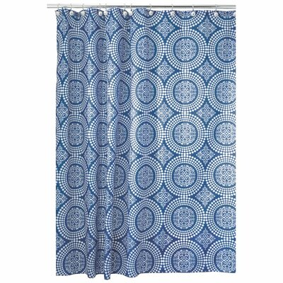 Medallion Shower Curtain Color: Ink Blue