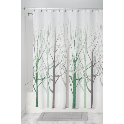Forest Shower Curtain Color: Sage/Taupe