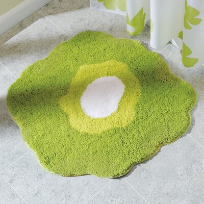 Poppy Bath Rug Color: Green