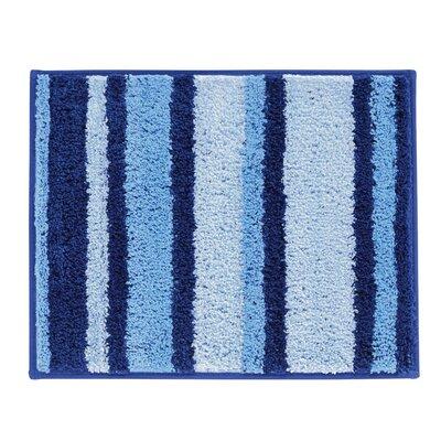 Stripz Bath Rug Color: Surf Blue