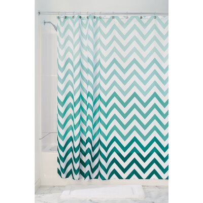 Ombre Chevron Shower Curtain Color: Mint