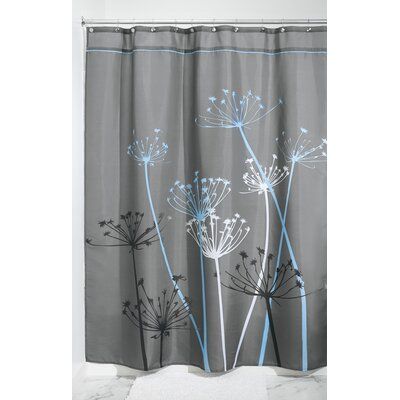 Thistle Shower Curtain Color: Gray/Blue