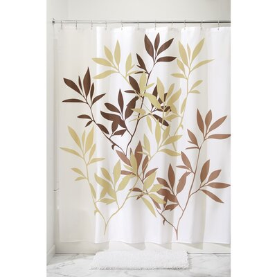 Leaves Shower Curtain Color: Brown