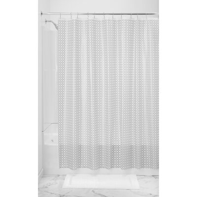 Addie Shower Curtain Liner Color: Silver