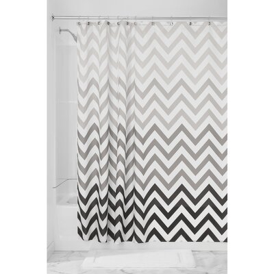 Ombre Chevron Shower Curtain Color: Gray