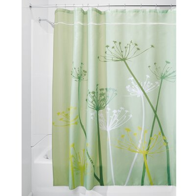 Thistle Shower Curtain Color: Green