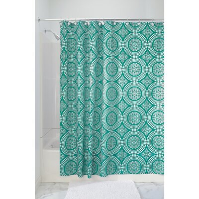 Medallion Shower Curtain Color: Deep Teal