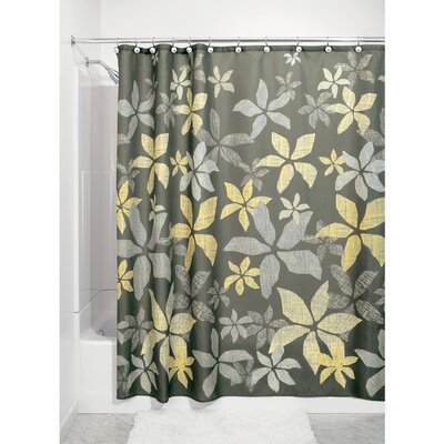 Tessa Shower Curtain Set Color: Gray/Yellow
