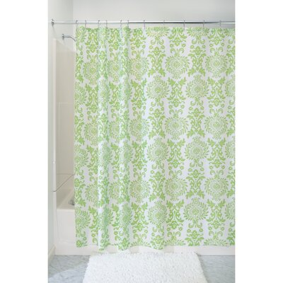Damask Shower Curtain Color: Lime