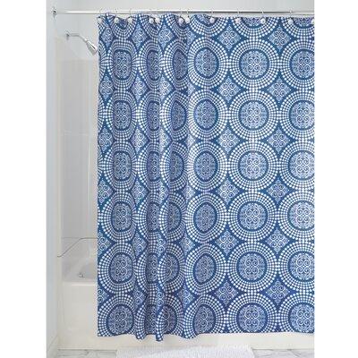 Medallion Shower Curtain Color: Ink Blue