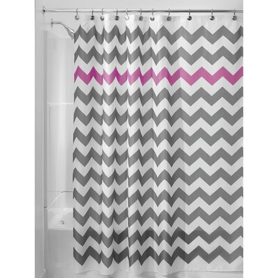 Chevron Shower Curtain Color: Gray/Orchid