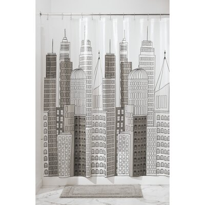 Metro Shower Curtain Color: Gray