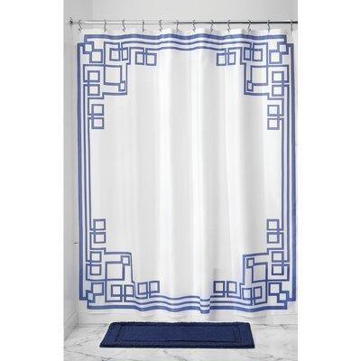 Greek Key Shower Curtain