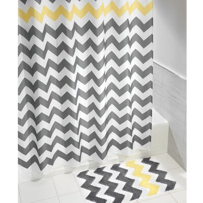 Chevron Shower Curtain Color: Yellow