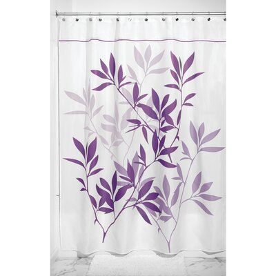 Leaves Shower Curtain Color: Purple