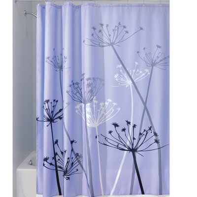 Thistle Shower Curtain Color: Purple/Gray