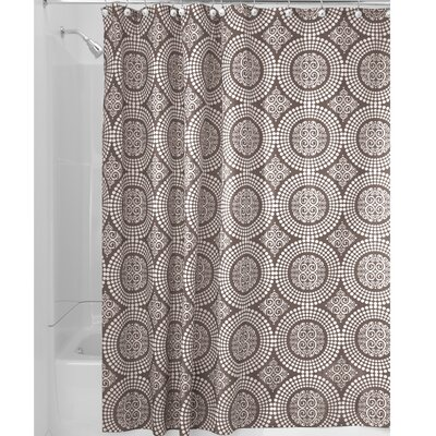 Medallion Shower Curtain Color: Taupe