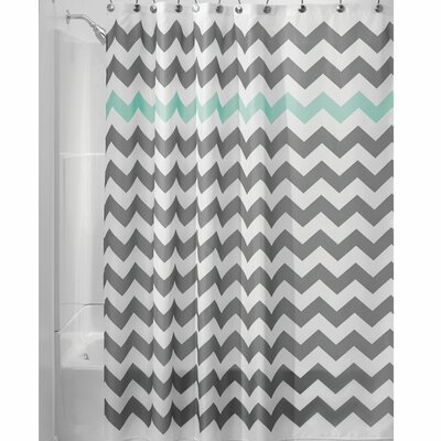 Chevron Shower Curtain Color: Aruba