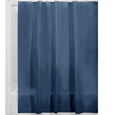Miner Shower Curtain Liner Color: Navy