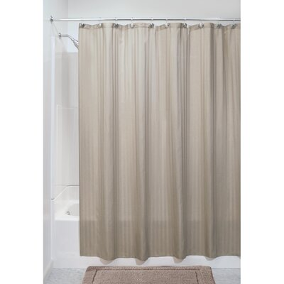 Satin Stripe Shower Curtain Color: Brown