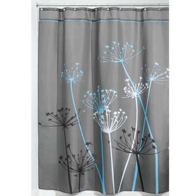 Thistle Shower Curtain Color: Blue