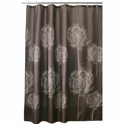 Dandelion Shower Curtain Color: Brown