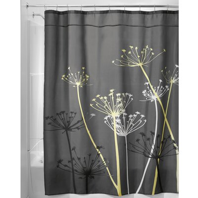 Thistle Shower Curtain Color: Yellow
