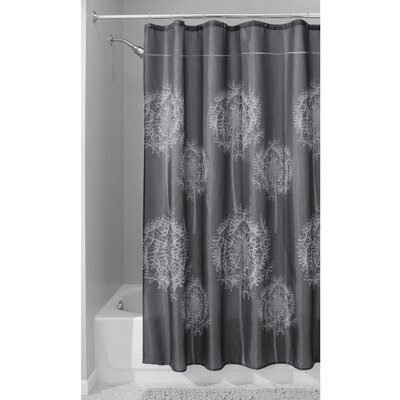 Dandelion Shower Curtain Color: Gray
