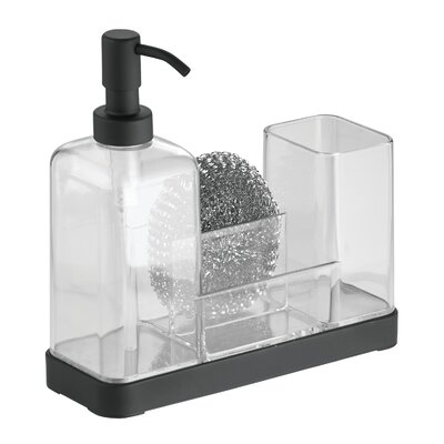 Forma Kitchen Soap Dispenser Pump, Sponge, Scrubby and Dish Brush Caddy Organizer