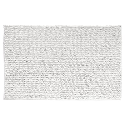 Microfiber Frizz Shower Accent Bath Rug Color: White