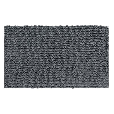 Microfiber Frizz Shower Accent Bath Rug Color: Charcoal