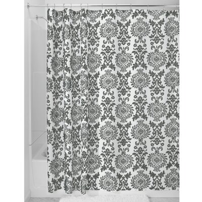 Damask Shower Curtain Color: Charcoal
