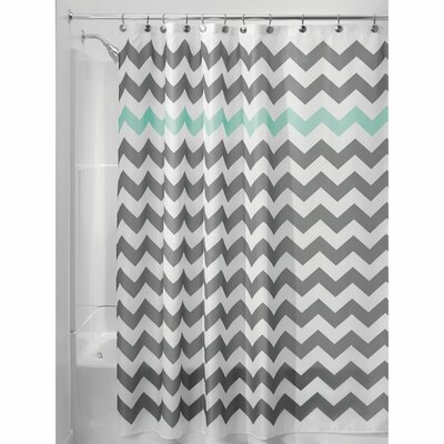 Chevron Shower Curtain Color: Gray/Aruba