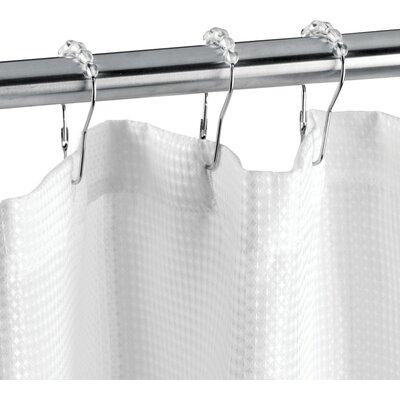 Crystal shower curtain hooks