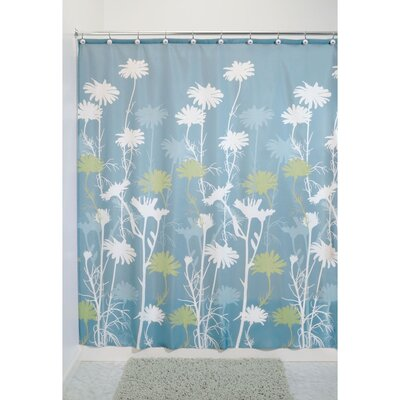 Daizy Shower Curtain Color: Blue/Sage