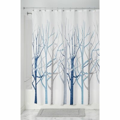 Forest Shower Curtain Color: Blue/Gray